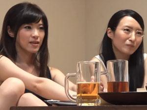相席居酒屋 堅物ママとイケイケママの2人組が泥酔乱交セックス