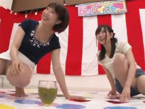 街行く素人女性2人組がパンチラ盛り沢山の泥酔ツイ●ターゲームに挑戦!