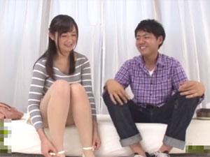 「なんか恥ずかしい…」巨乳姉が童貞弟と赤面素股に挑戦!