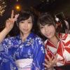 美乳浴衣女子2人組をナンパSEX!